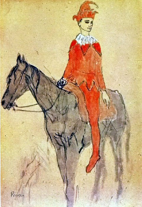 1905 Arlequin Е cheval. Pablo Picasso (1881-1973) Period of creation: 1889-1907