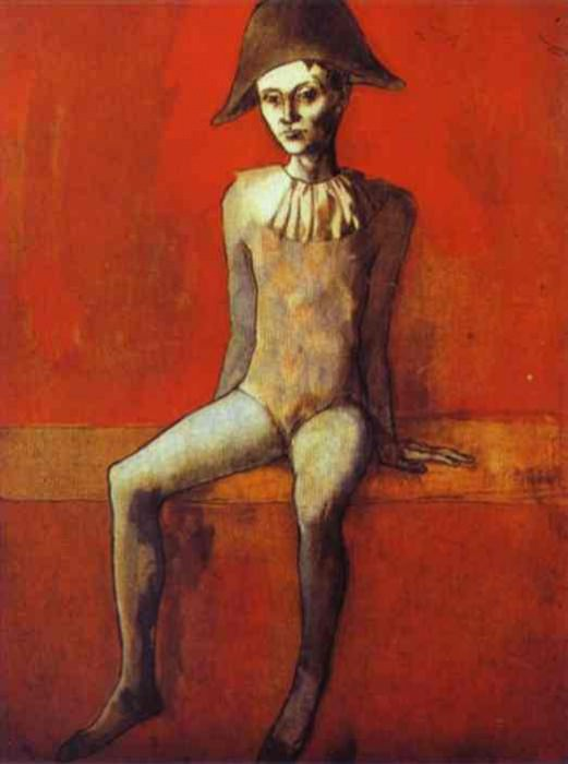 1905 Arlequin sur un canapВ rouge. Pablo Picasso (1881-1973) Period of creation: 1889-1907