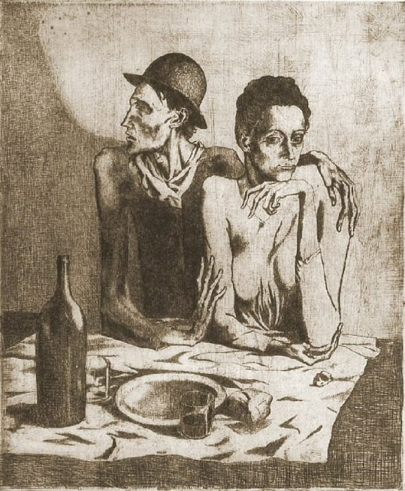 1904 Le repas frugal. Pablo Picasso (1881-1973) Period of creation: 1889-1907