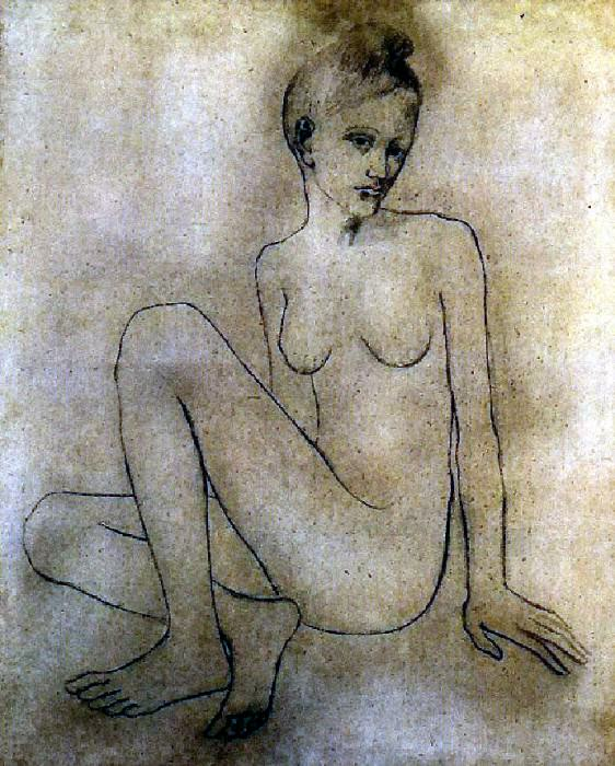 1905 Madeleine nue. Pablo Picasso (1881-1973) Period of creation: 1889-1907
