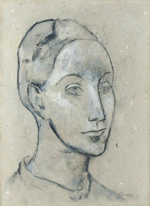 1906 TИte de femme. Pablo Picasso (1881-1973) Period of creation: 1889-1907