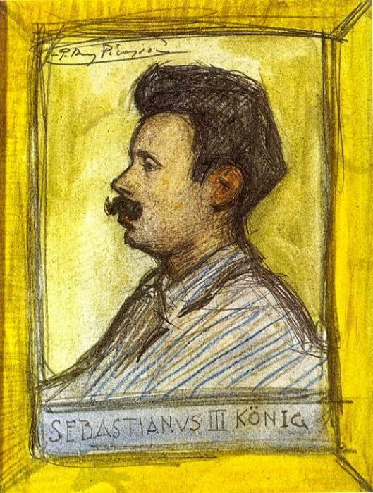 1900 Sebastianus III KФnig (Portrait de Sebastie Junyer-Vidal). Пабло Пикассо (1881-1973) Период: 1889-1907