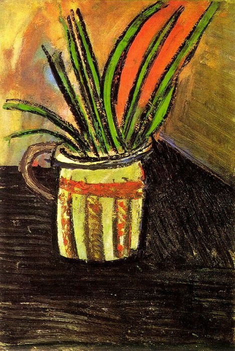 1907 Fleurs exotiques (Bouquet dans un vase). Пабло Пикассо (1881-1973) Период: 1889-1907