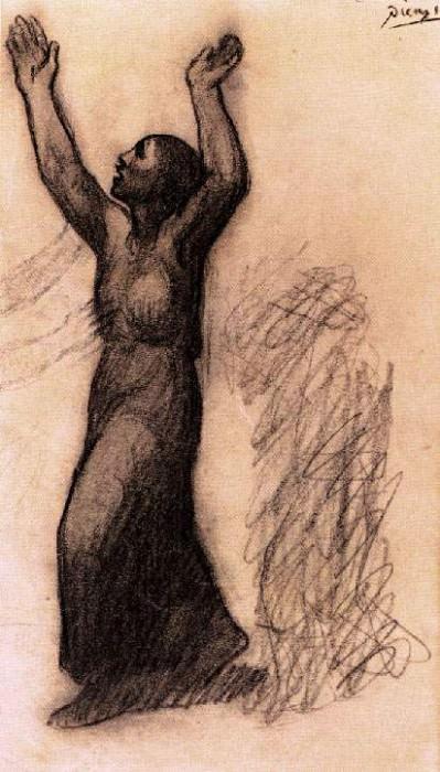 1902 Femme aux bras levВs. JPG. Pablo Picasso (1881-1973) Period of creation: 1889-1907