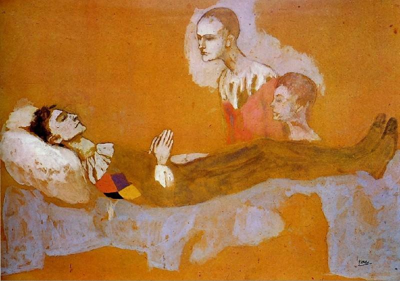 1906 La mort darlequin. Пабло Пикассо (1881-1973) Период: 1889-1907