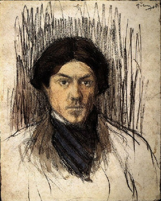 1901 Autoportrait. Пабло Пикассо (1881-1973) Период: 1889-1907