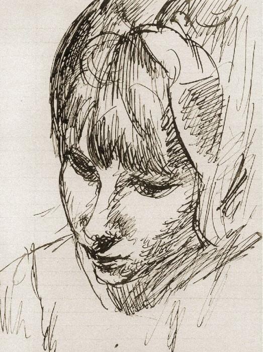 1907 TИte de Raymonde. Pablo Picasso (1881-1973) Period of creation: 1889-1907