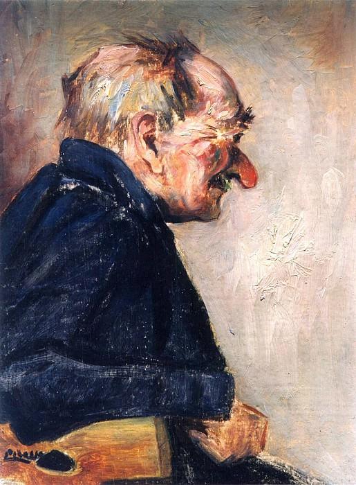1901 Portrait dhomme. Пабло Пикассо (1881-1973) Период: 1889-1907 (Bibi-la-purВe)