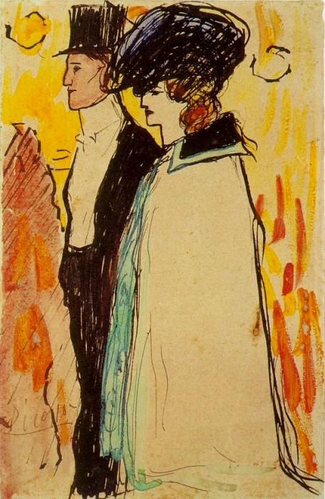 1901 Couple de Rastaquoueres. Pablo Picasso (1881-1973) Period of creation: 1889-1907
