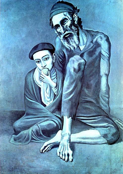 1903 Le vieux juif (Le vieillard). Пабло Пикассо (1881-1973) Период: 1889-1907