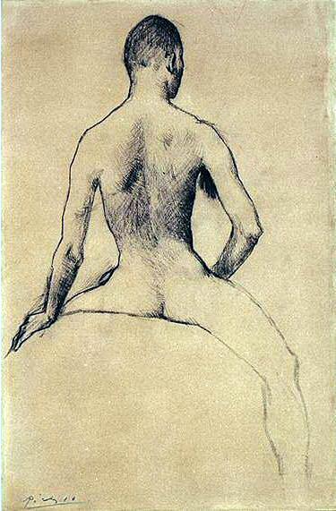 1906 Jeune homme et cheval2. Пабло Пикассо (1881-1973) Период: 1889-1907