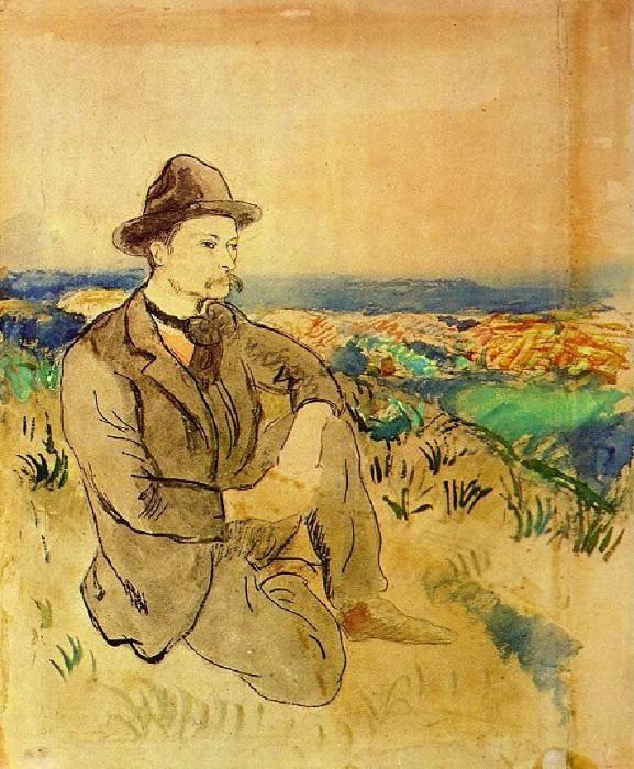 1902 Portrait de Juli Gonzаlez. Pablo Picasso (1881-1973) Period of creation: 1889-1907