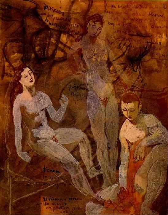 1906 Trois nus. Pablo Picasso (1881-1973) Period of creation: 1889-1907