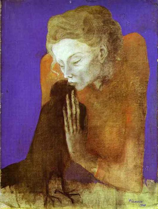 1904 Femme Е la corneille II. Пабло Пикассо (1881-1973) Период: 1889-1907