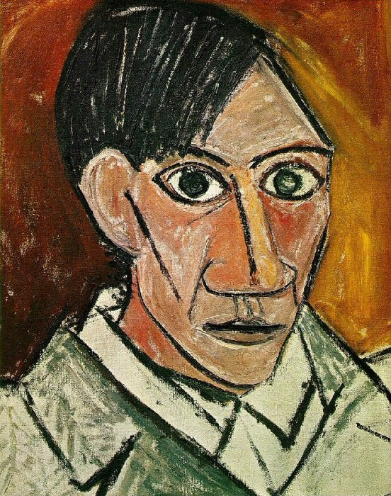 1907 Autoportrait. Pablo Picasso (1881-1973) Period of creation: 1889-1907