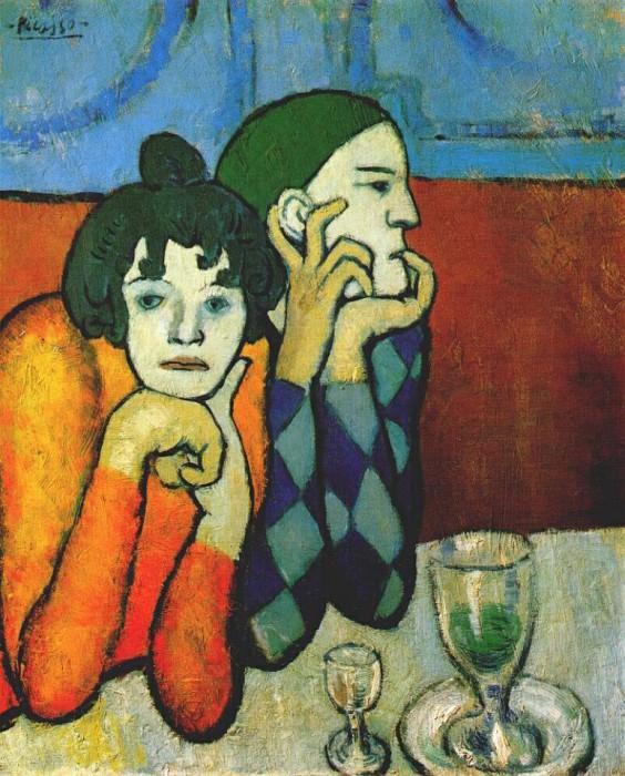 1901Arlequin et son compagnon. Pablo Picasso (1881-1973) Period of creation: 1889-1907