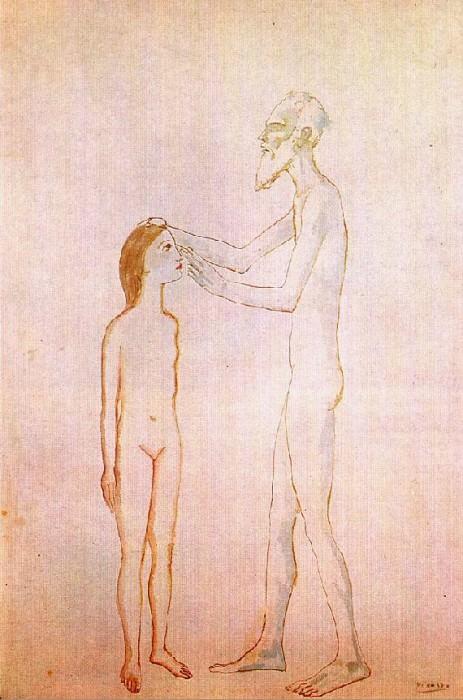 1904 Vieillard aveugle et fillette. Pablo Picasso (1881-1973) Period of creation: 1889-1907