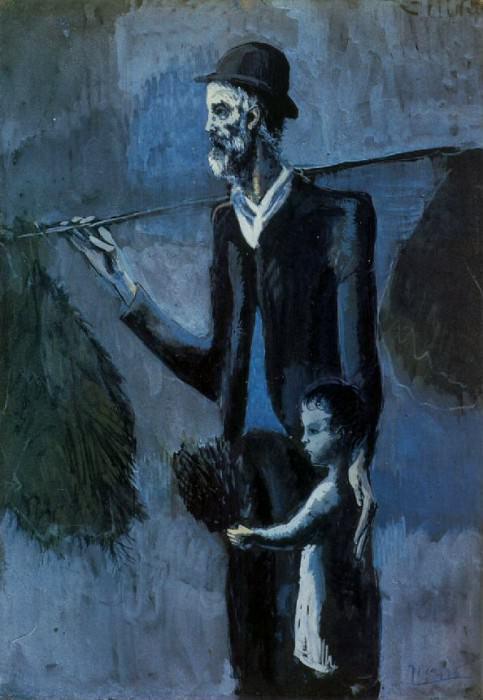 1902 Vendeur de gui. Пабло Пикассо (1881-1973) Период: 1889-1907