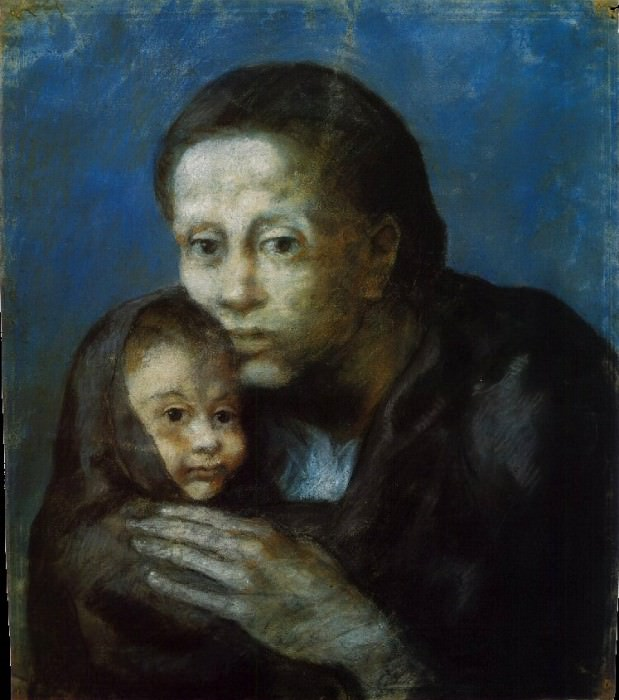 1903 MКre et enfant au fichu. Пабло Пикассо (1881-1973) Период: 1889-1907