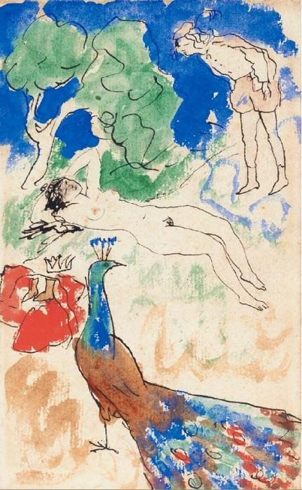 1905 Junon endormie. Пабло Пикассо (1881-1973) Период: 1889-1907
