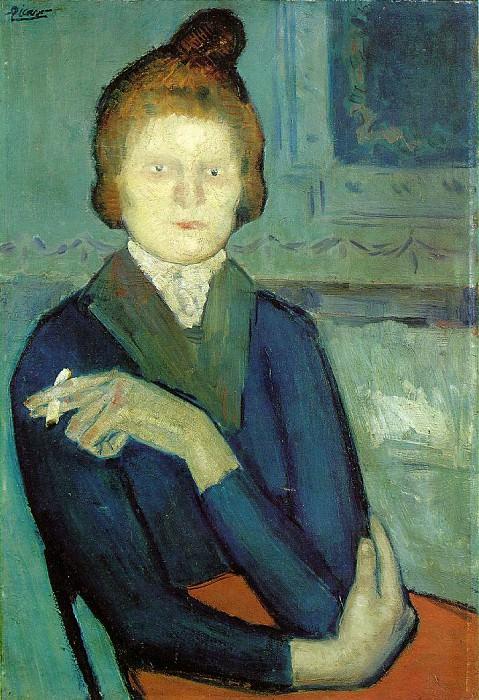 1901 Femme Е la cigarette. Pablo Picasso (1881-1973) Period of creation: 1889-1907