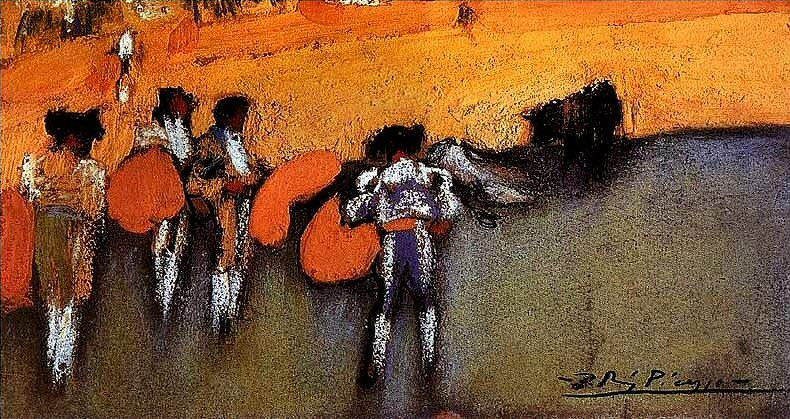1900 Courses de taureaux (Corrida). Pablo Picasso (1881-1973) Period of creation: 1889-1907