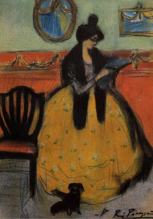 1901 La lecture. Pablo Picasso (1881-1973) Period of creation: 1889-1907