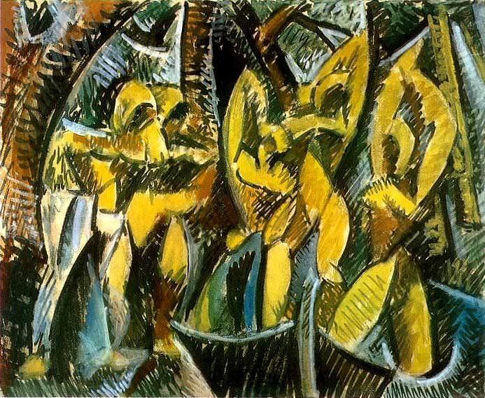 1907 Cinq femmes. Пабло Пикассо (1881-1973) Период: 1889-1907
