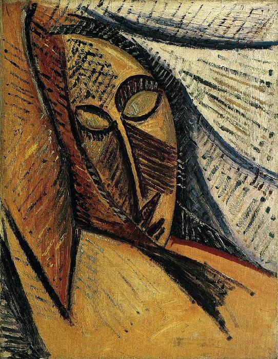 1907 Nu Е la draperie. Pablo Picasso (1881-1973) Period of creation: 1889-1907 (etude tete de femme)