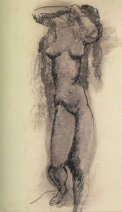 1906 Femme nue. Pablo Picasso (1881-1973) Period of creation: 1889-1907