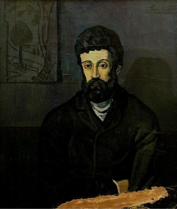 1902 Portrait dhomme. Pablo Picasso (1881-1973) Period of creation: 1889-1907 (Homme en bleu)