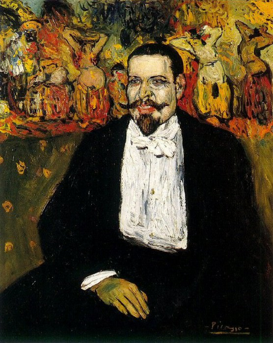 1901 Portrait de Gustave Coquiot. Пабло Пикассо (1881-1973) Период: 1889-1907