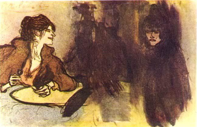 1900 Deux femmes. Пабло Пикассо (1881-1973) Период: 1889-1907