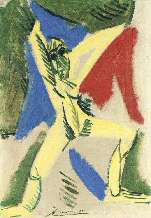 1907 Nu Е la draperie (Рtude pour La grande danseuse). Пабло Пикассо (1881-1973) Период: 1889-1907