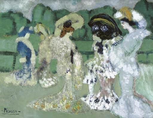 1901 Au champ de courses. Pablo Picasso (1881-1973) Period of creation: 1889-1907