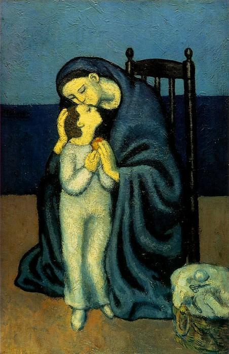 1901 MКre et enfant. Pablo Picasso (1881-1973) Period of creation: 1889-1907
