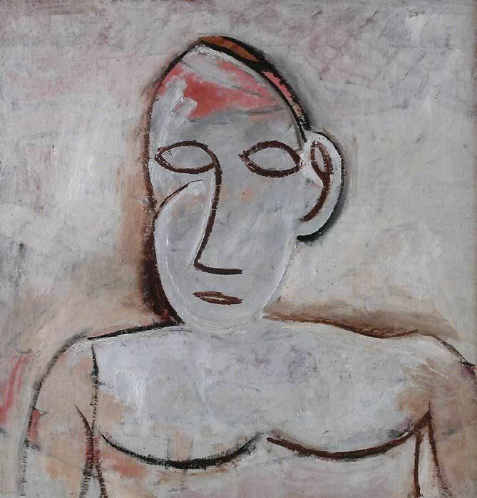 1907 Buste de femme Е la grande oreille. Пабло Пикассо (1881-1973) Период: 1889-1907