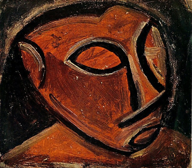 1907 TИte dhomme2. Pablo Picasso (1881-1973) Period of creation: 1889-1907