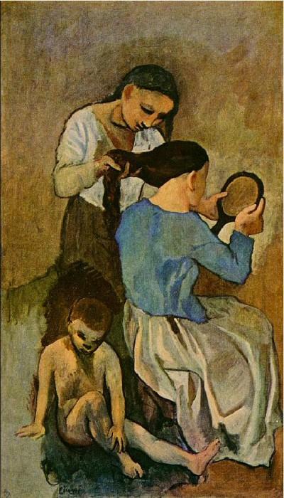 1906 La coiffure. Pablo Picasso (1881-1973) Period of creation: 1889-1907