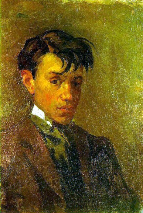 1896 Autoportrait mal coiffВ. Пабло Пикассо (1881-1973) Период: 1889-1907