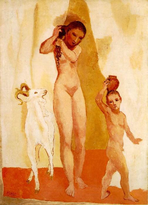 1906 Fille Е la chКvre. Pablo Picasso (1881-1973) Period of creation: 1889-1907