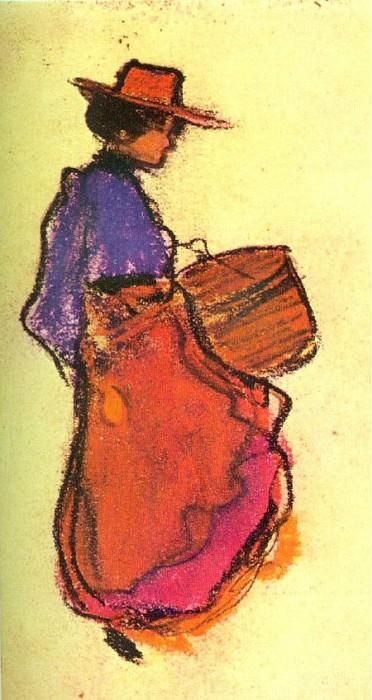 1900 Midinette de Paris. Пабло Пикассо (1881-1973) Период: 1889-1907