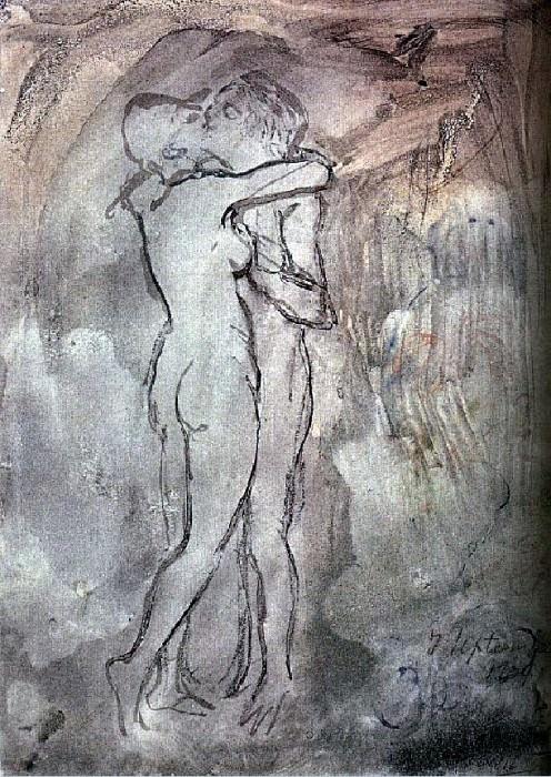 1904 Le baiser. Пабло Пикассо (1881-1973) Период: 1889-1907