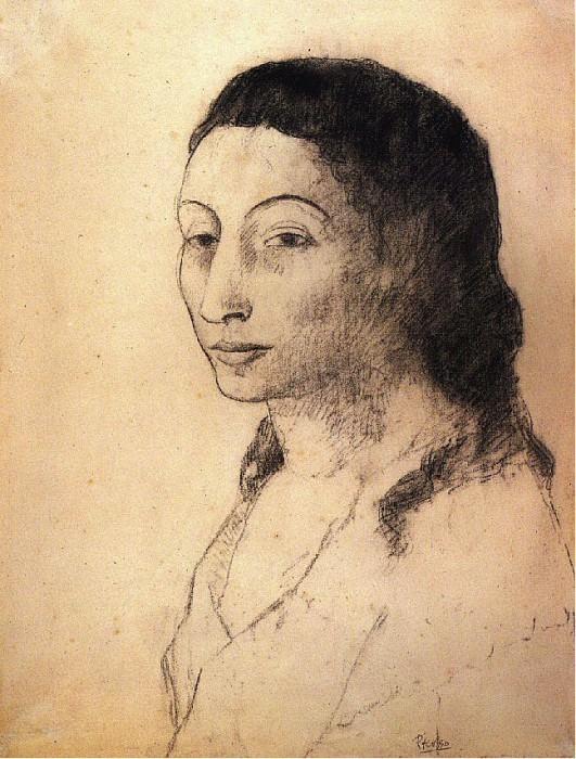 1906 Portrait de Fernande. Пабло Пикассо (1881-1973) Период: 1889-1907
