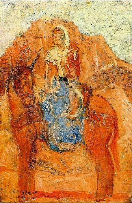 1906 Femme sur un Гne. Pablo Picasso (1881-1973) Period of creation: 1889-1907