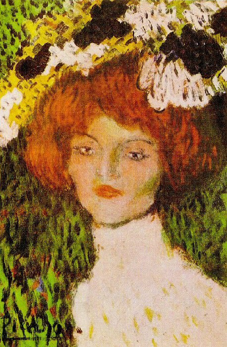1901 La MadrilКne (TИte de jeune femme). Pablo Picasso (1881-1973) Period of creation: 1889-1907