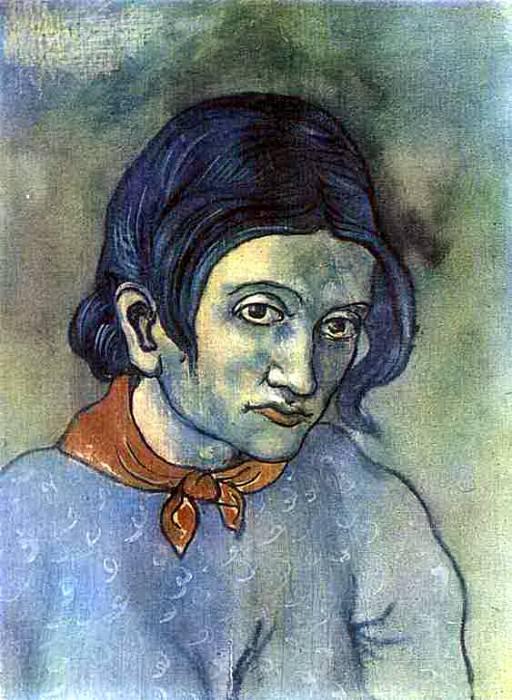 1903 Portrait dune jeune femme. Пабло Пикассо (1881-1973) Период: 1889-1907