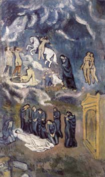 1901 Lenterrement de casagemas. Pablo Picasso (1881-1973) Period of creation: 1889-1907