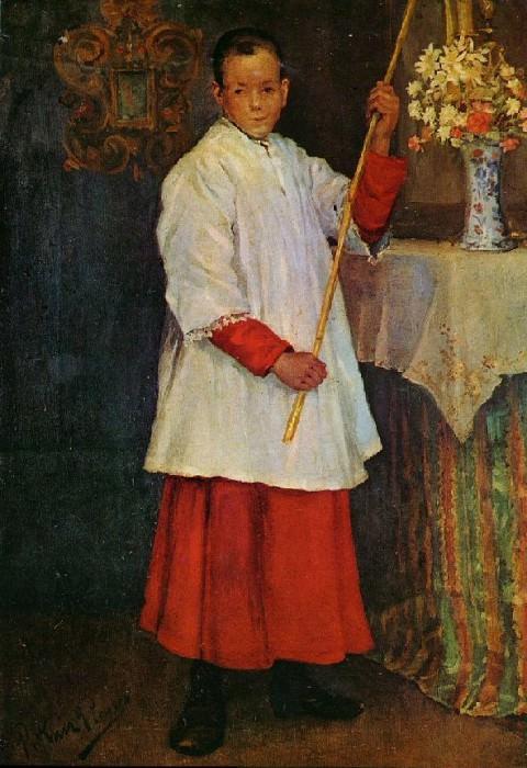 1896 Lenfant de choeur. Пабло Пикассо (1881-1973) Период: 1889-1907