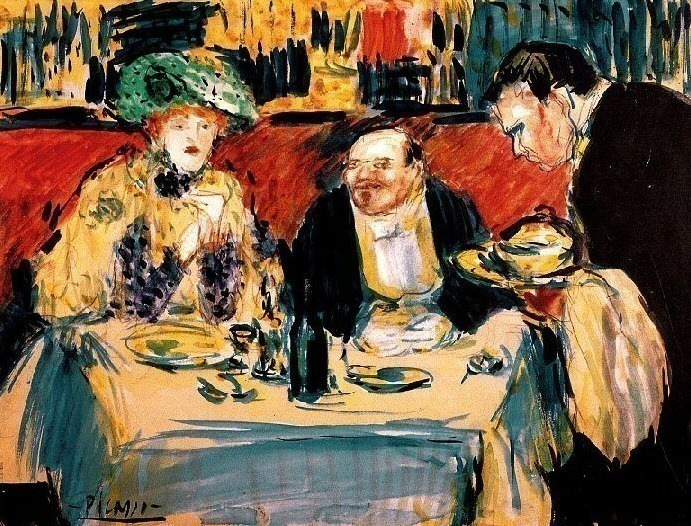 1901 Les soupeurs. Pablo Picasso (1881-1973) Period of creation: 1889-1907